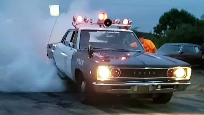 707HP Hellcat Powered '68 Dodge Coronet Cop Car Burnout