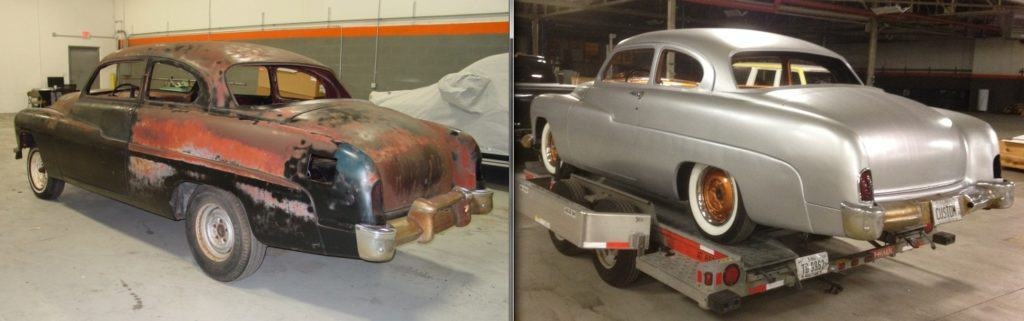 Doctor Detroit's 1951 Mercury Eight Build - Before and After