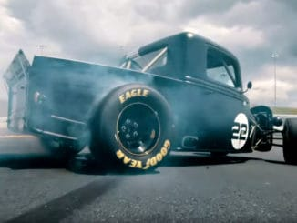 Drifting Charlotte Motor Speedway in an 800HP NASCAR Powered Truck