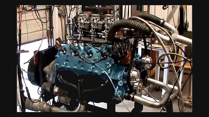 High-Performance Flathead Ford Engine
