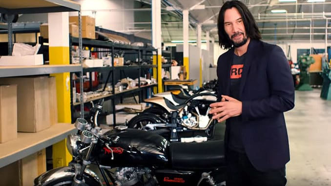 Keanu Reeves Motorcycle Collection