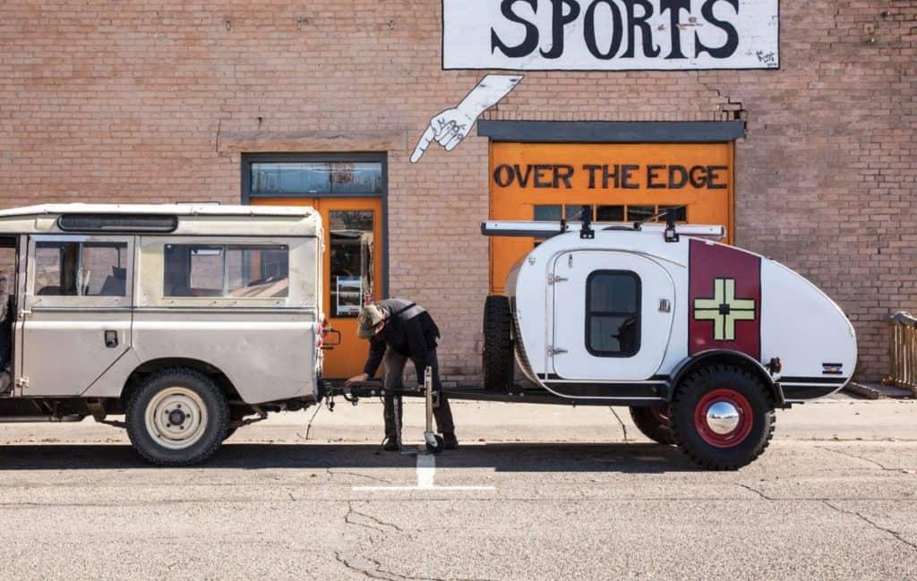 Vintage Overland Caravan Camping Trailer