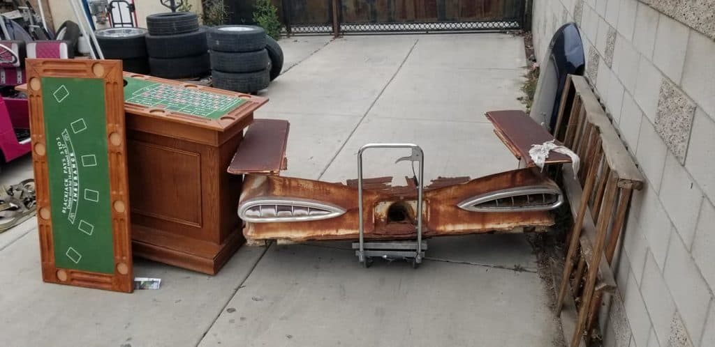 1959 Chevrolet Impala Casino Table and Bar ~ Before