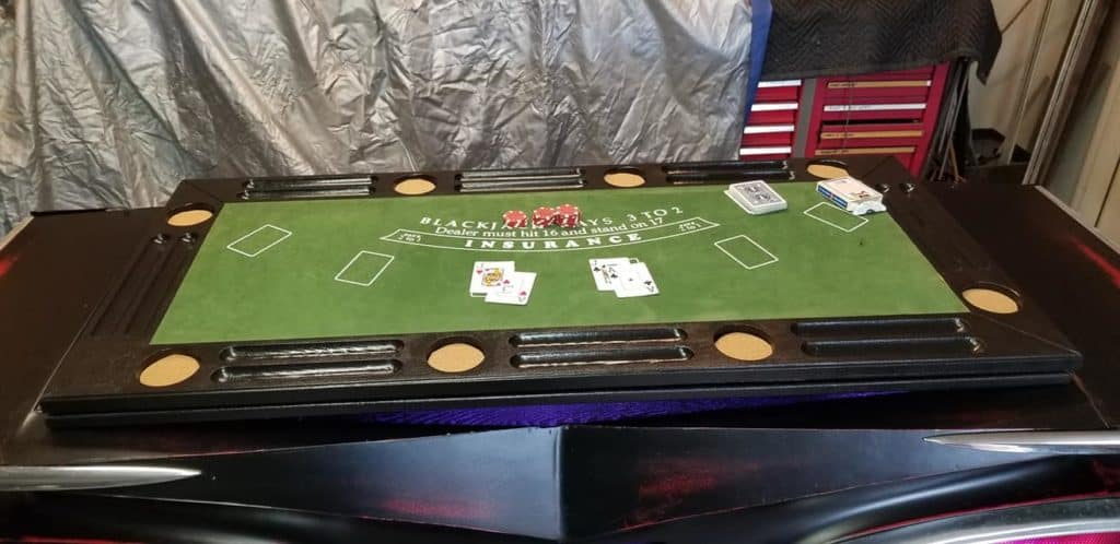 1959 Chevrolet Impala Casino Table and Bar ~ Black Jack Table