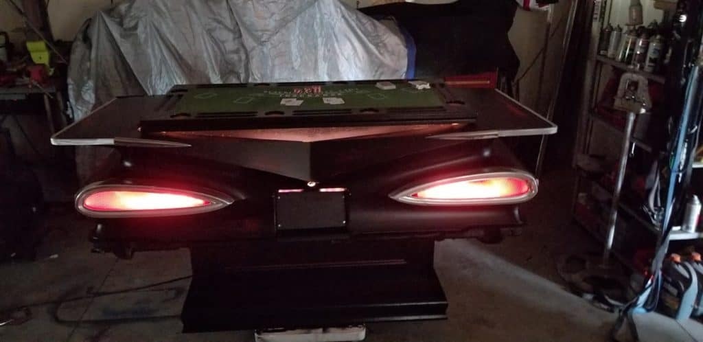 1959 Chevrolet Impala Casino Table and Bar ~ Working Cat-eye Taillights