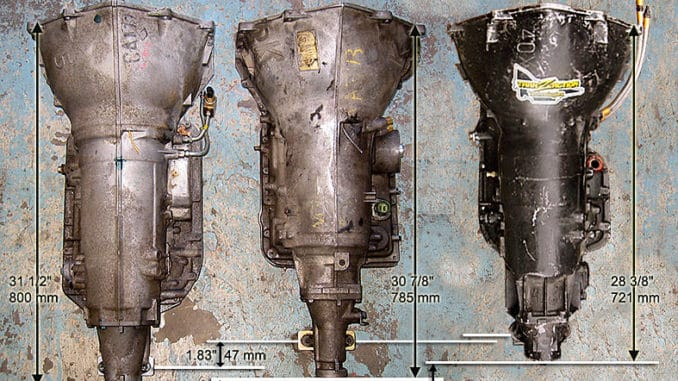 4L80E, 4L60E,and TH400 Transmission Dimensions