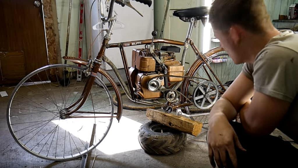 Belt tensioner as clutch on motorized bike