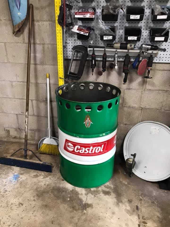 Hot Rod Trash Can by Jacob Warner