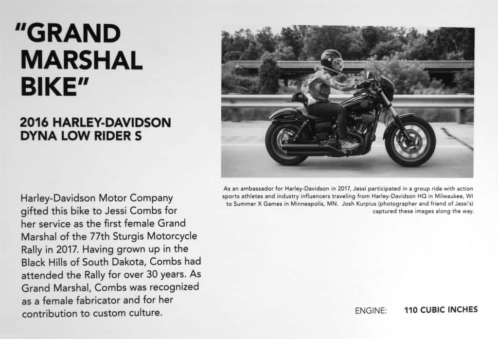 Jessi Combs Motorcycle ~ 2016 Harley-Davidson Dyna Low Rider S ~ Sturgis Grand Marshal Bike
