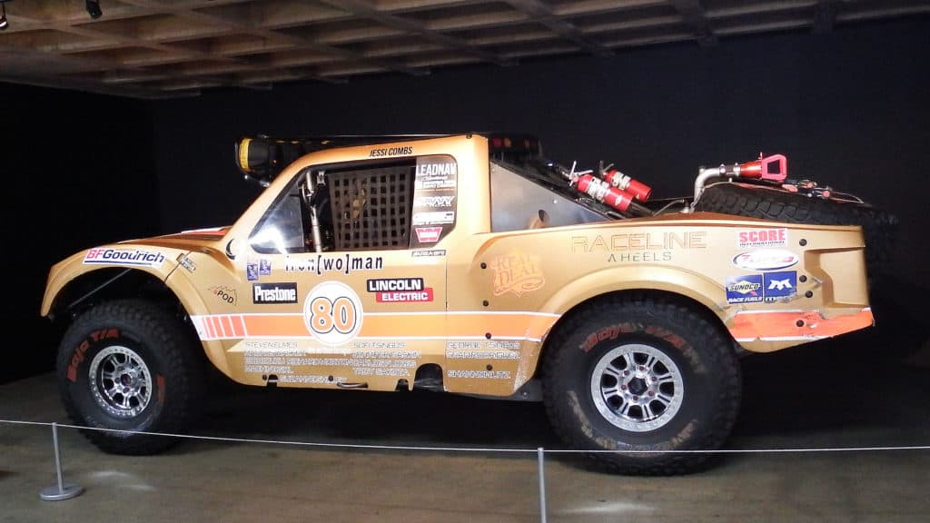 Jessi Combs Tribute Petersen Automotive Museum ~ Parking Garage Display