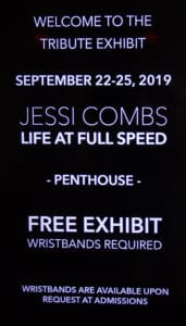 Jessi Combs Tribute Welcome Sign ~ Petersen Automotive Museum