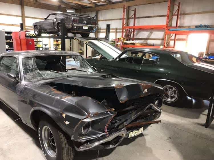John Wick Movie Chevelle and Mustangs
