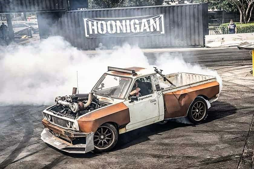 Josh Mazerolle's 1977 Twin Turbo LS Toyota Hilux Widebody