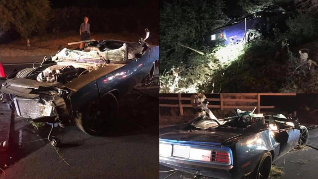 Kevin Hart's 1970 Plymouth Barracuda Totaled