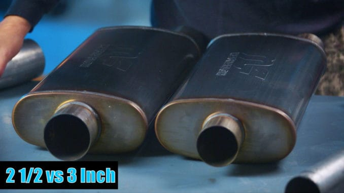 2.5 Inch and 3 Inch Mufflers