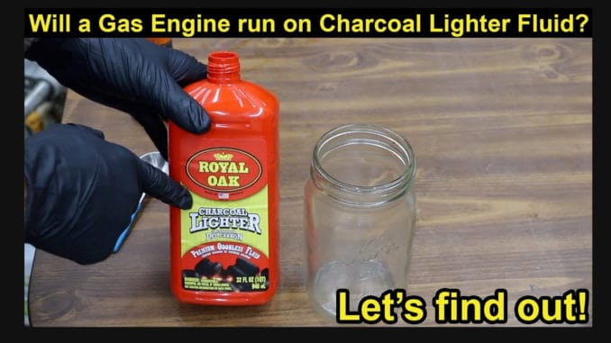 Will a Gas Engine Run on Charcoal Lighter Fluid?