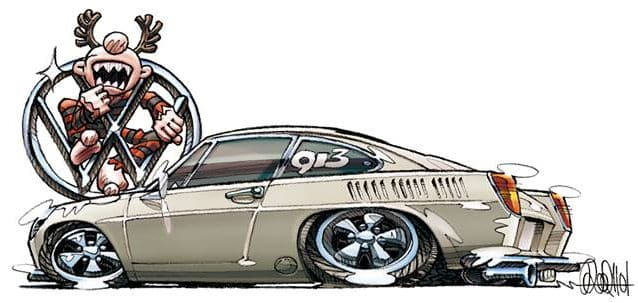 Hotaka Saito ~ 1968 Porsche - Type 3 Fastback 913 Illustration