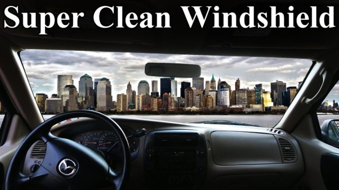 How to Super Clean the INSIDE of Your Windshield