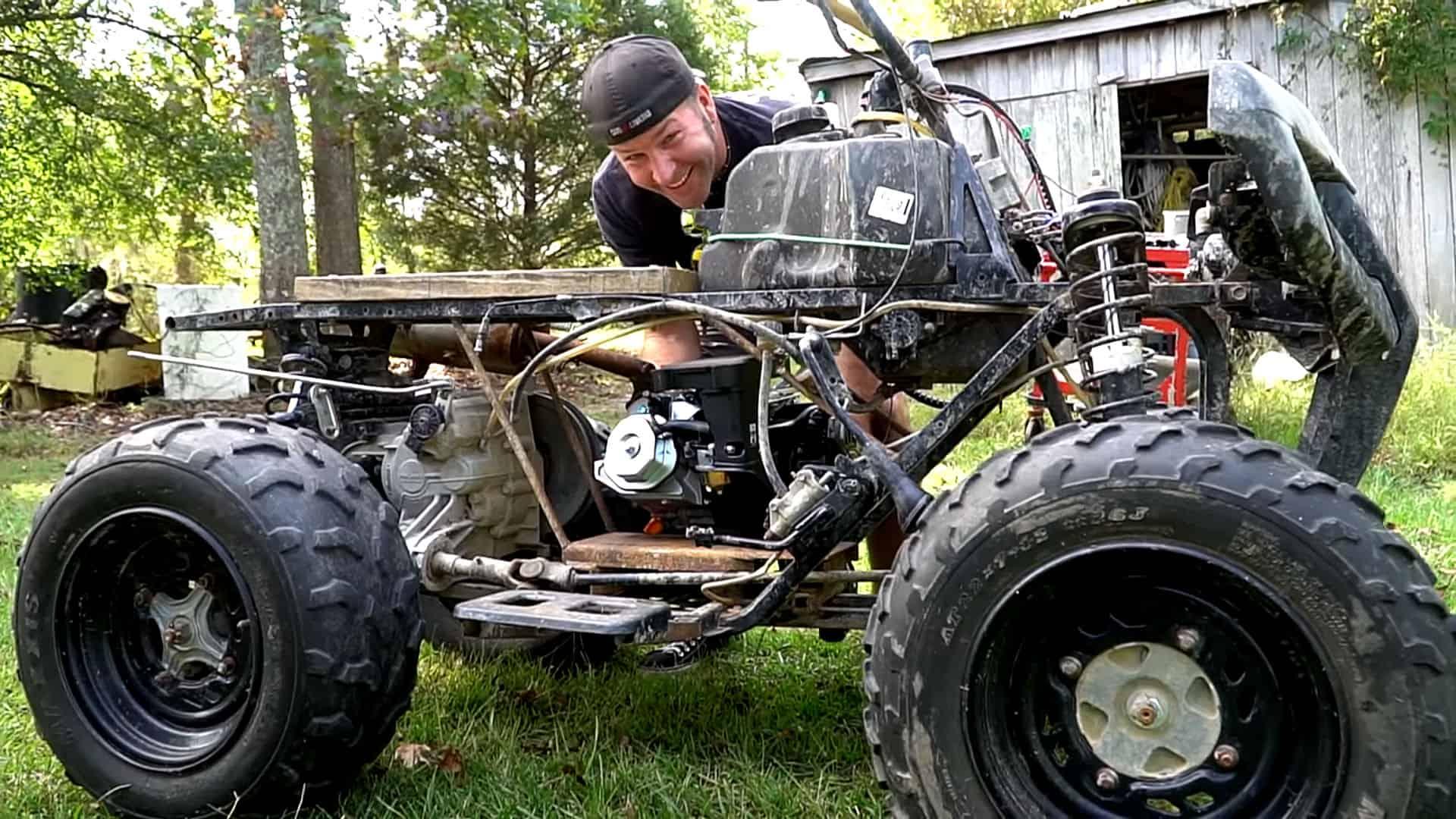 Rat Rod Quad ~ Predator 420cc Powered ATV