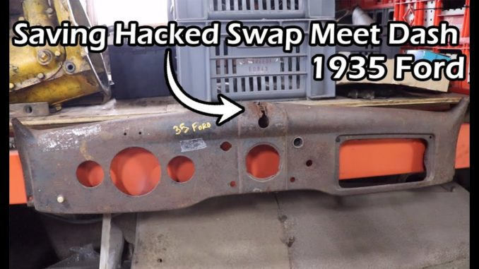 Repairing a Hacked 1935-36 Ford Dash Panel