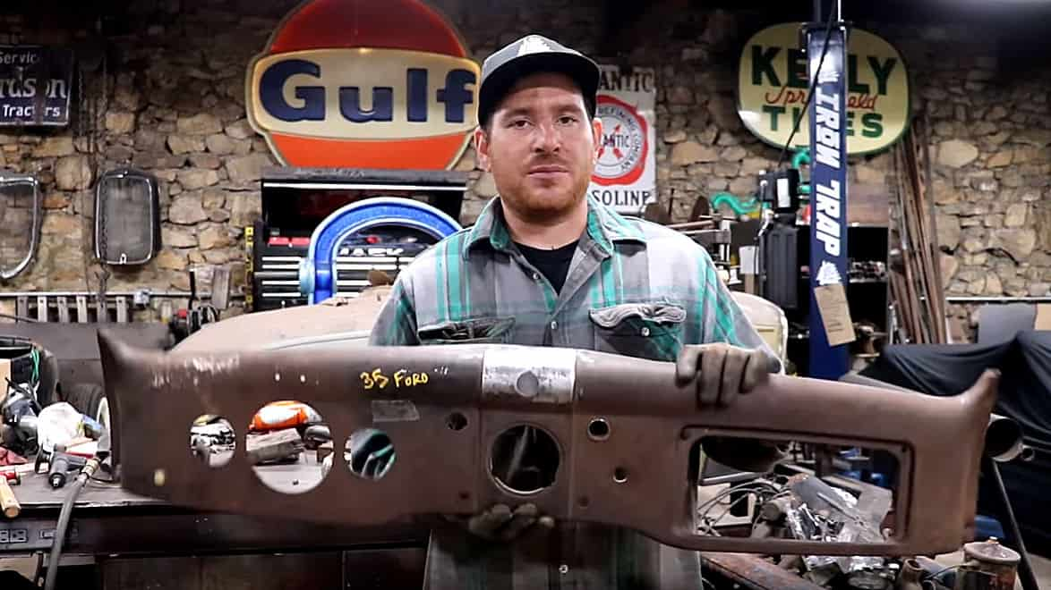 Repairing a Hacked 1935-36 Ford Dashboard