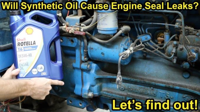 Will Synthetic Motor Oil Cause Engine Seal Leaks?