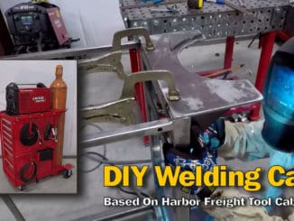 DIY Welding Cart Built Around Harbor Freight Tool Cabinet