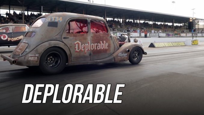 Deplorable ~ 1934 Renault Outlaw Gasser at Holley Hot Rod Reunion