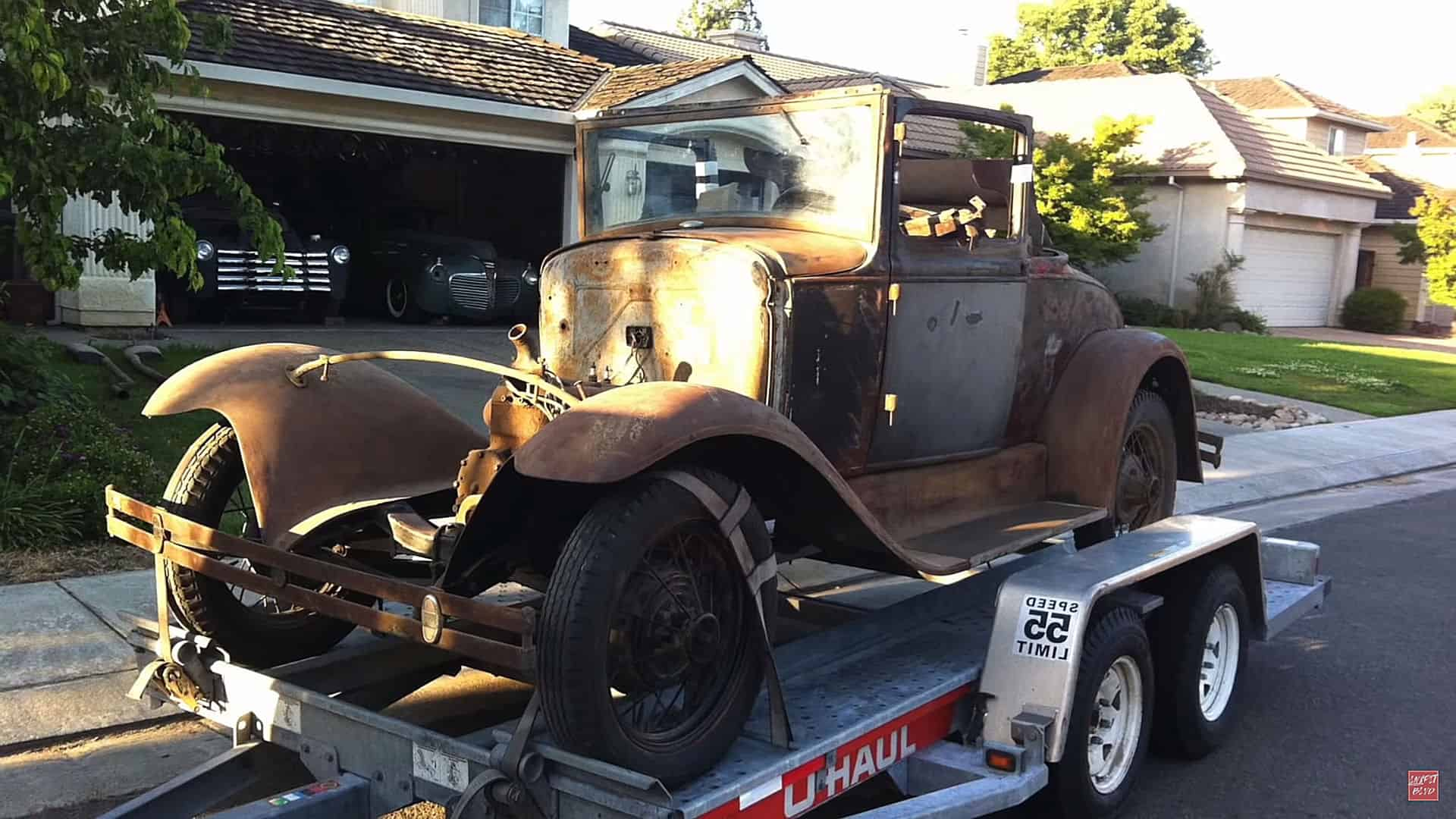 Luis Gonzales' 1930 Ford Model A Sport Coupe ~ Before