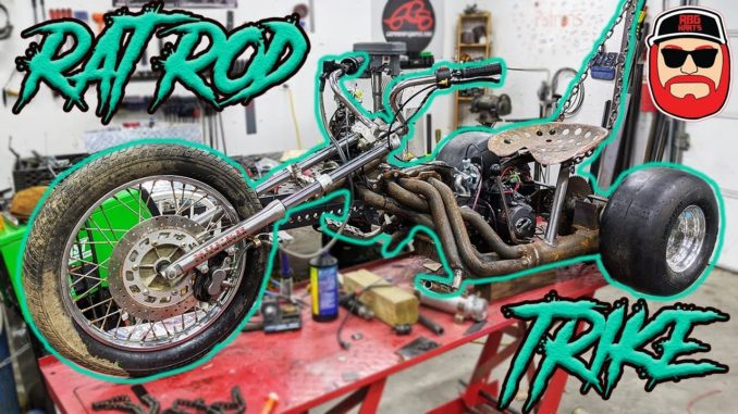 Rat Rod Header 125cc Mini-Bike Trike Build
