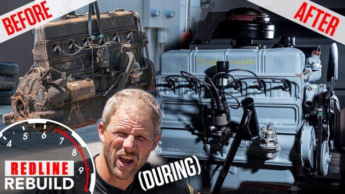 Chevy Stovebolt 6 Engine Rebuild Time-lapse