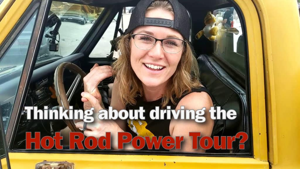 Emily on the Hot Rod Power Tour