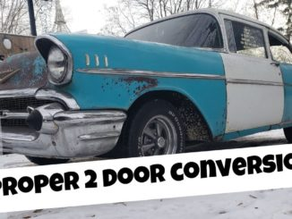 Tri-Five Chevy 4 Door to 2 Door Conversion