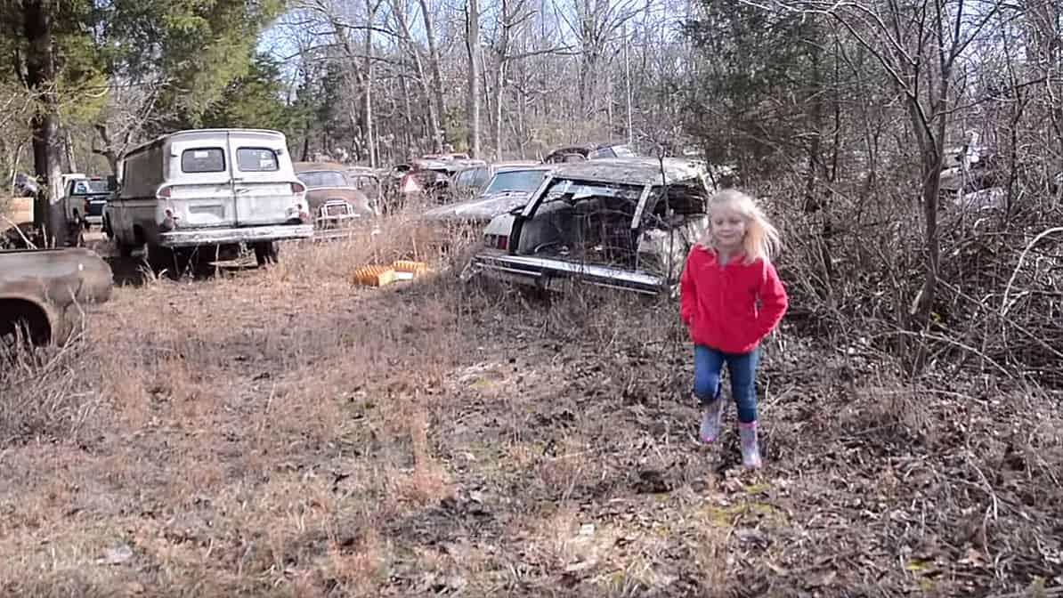 Daddy-Daughter Classic Car Junkyard Adventure