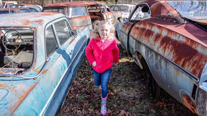 Daddy-Daughter Classic Car Junkyard Adventure