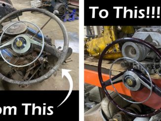 Insane Lincoln V-12 Lucite Steering Wheel Transformation
