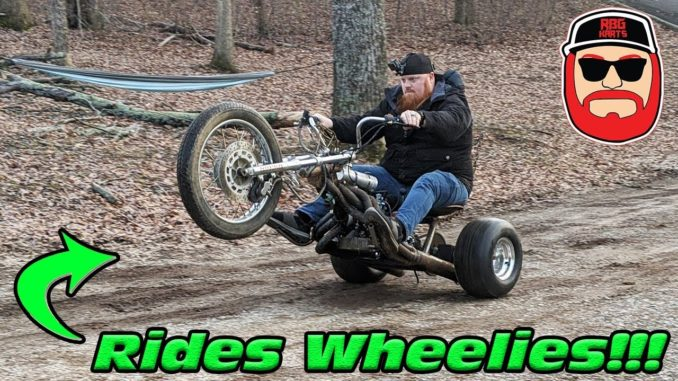 Rat Rod Header 125cc Mini-Bike Trike Rides Wheelies