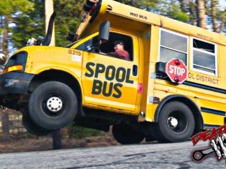 Twin Turbo School Bus Does Wheelies