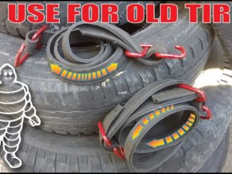 Making Heavy Duty Bungee Cords from Old Tires