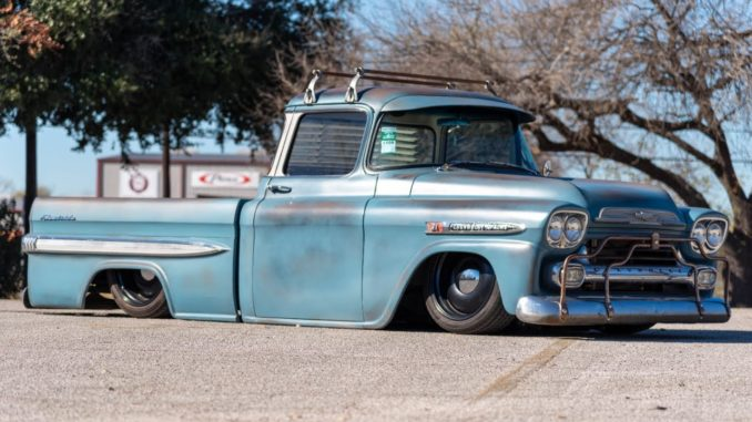 "Mark ""TheLowLifeCo"" Salinas and his Custom '55 Chevy Apache"
