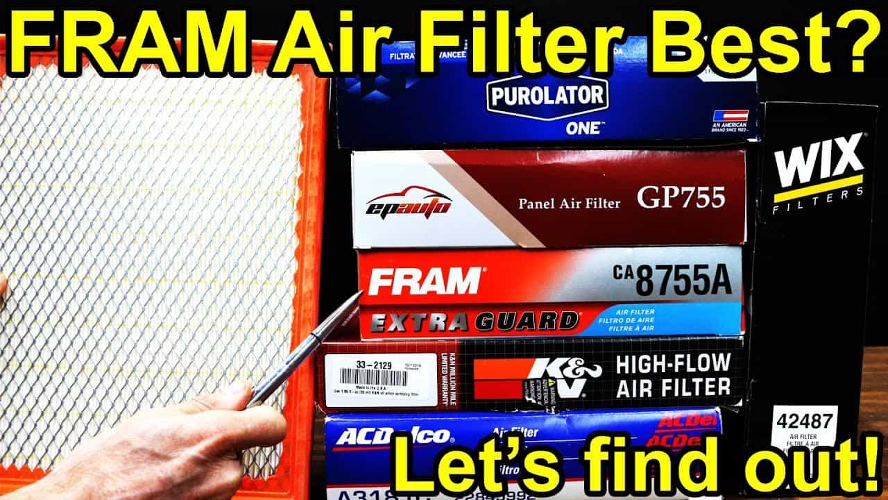 Which Air Filter is Best? Fram, K&N, Wix, Purolator, AC Delco Showdown