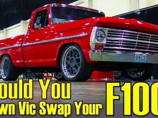 Ford F100 truck with Crown Vic front-end swap