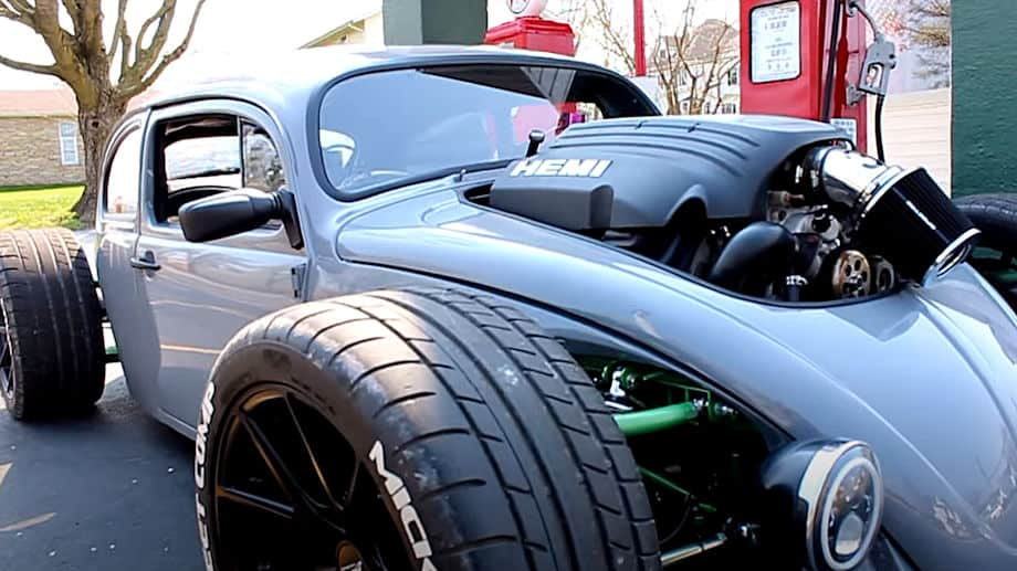 This HEMI-Powered VW Beetle is a Real Life Hot Wheels