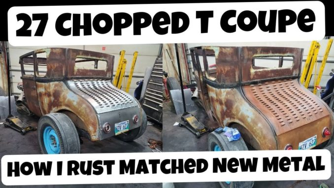 How To Rust New Metal Instantly ~ Matching a 1927 Model T Deck Lid