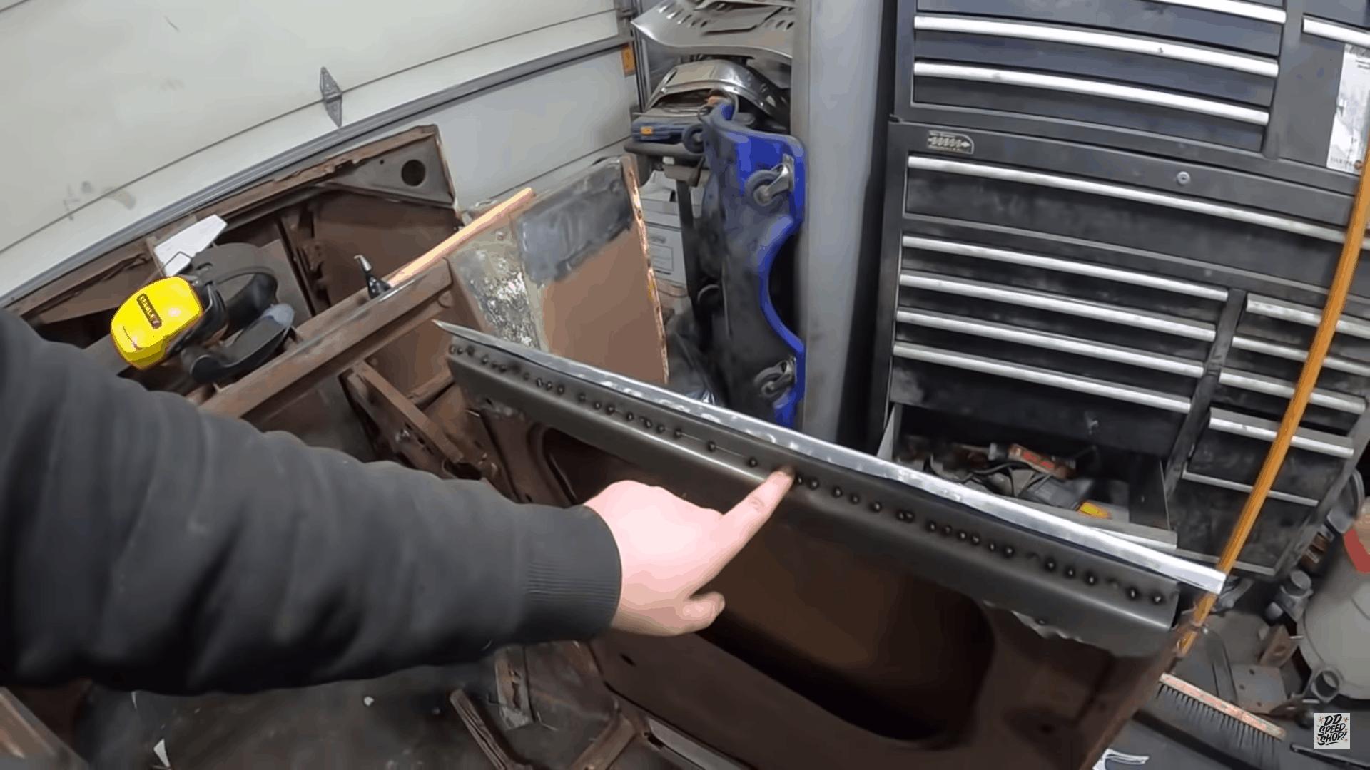 Hand Forming Model T Door Patch Panels