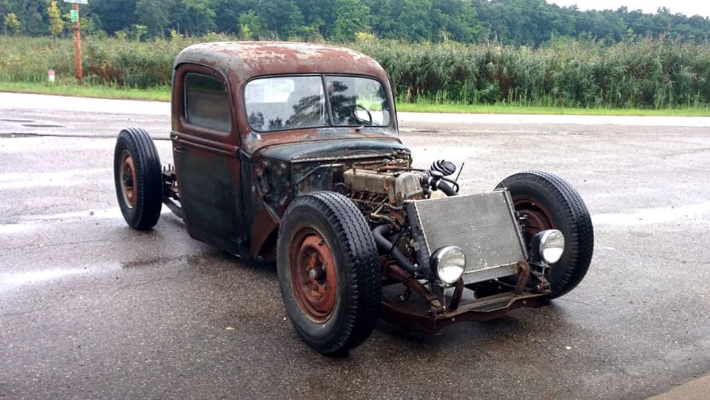 1946 Ford 1-Ton Truck Built on Upside-Down Chassis
