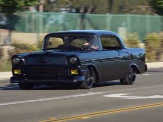 1956 Chevy Bel Air Matte Black Unicorn