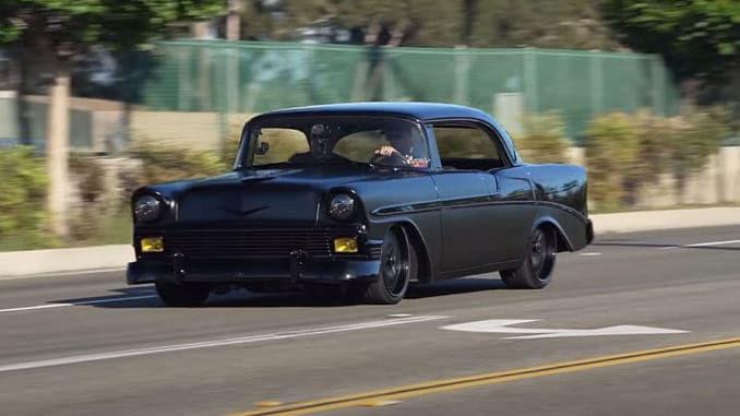 1956 Chevy Bel Air Matte Black Unicorn