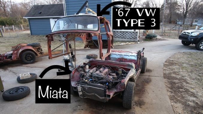 1967 VW Type 3 Squareback Gets Mazda Miata Chassis Swap