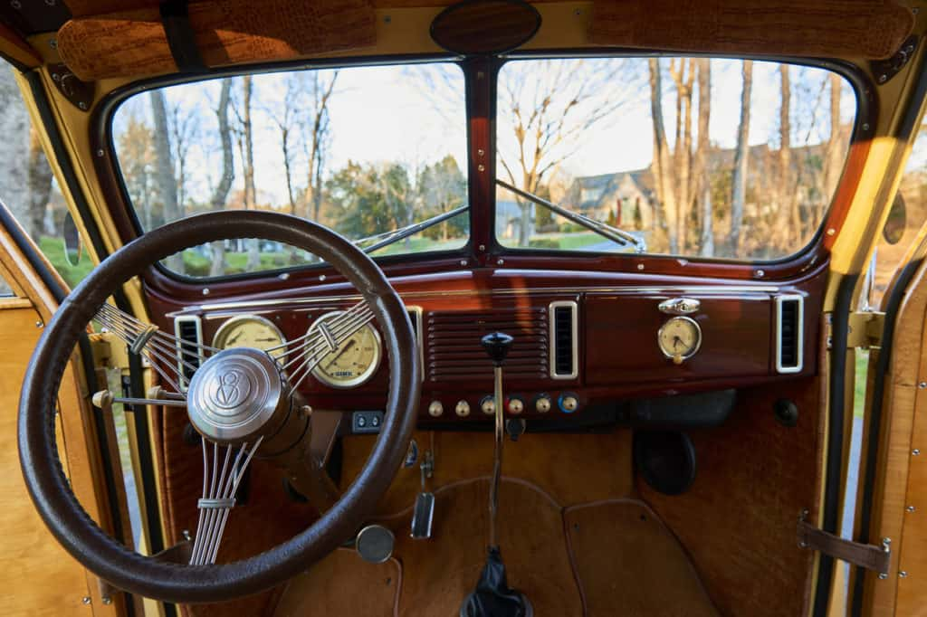 Barn Find Hunter Tom Cotters 1939 Ford Woodie Wagon Interior